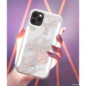 LuMee 11 Pro/Xs/X Marble Rose Metallic Phone Case